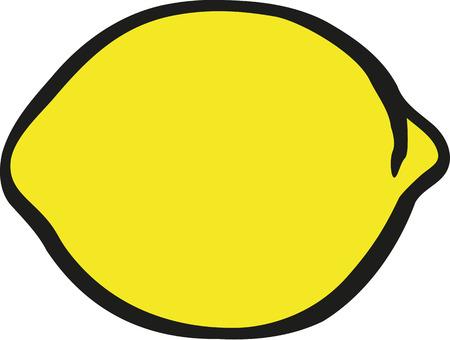 citron: Lemon cartoon style