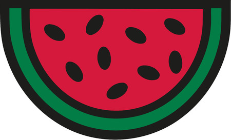 Watermelon cartoon style