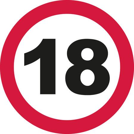 happy 18th birthday: 18th Birthday - traffic sign