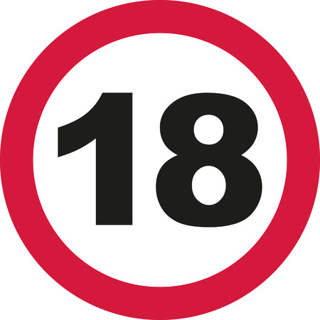 18th Birthday - traffic sign