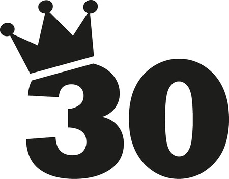 30th: 30th Birthday number crown