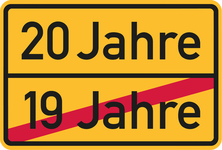 20th: 20th birthday - roadsign german