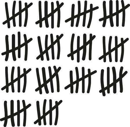 seventieth: 70 lines counting - Seventieth birthday Illustration