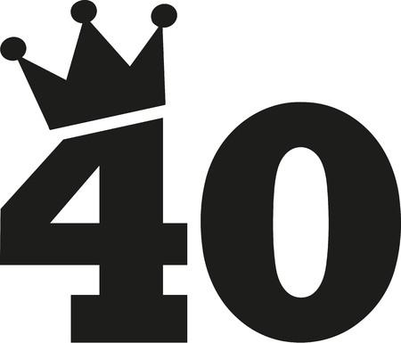 40 번째 생일 왕관 스톡 콘텐츠 - 60093536
