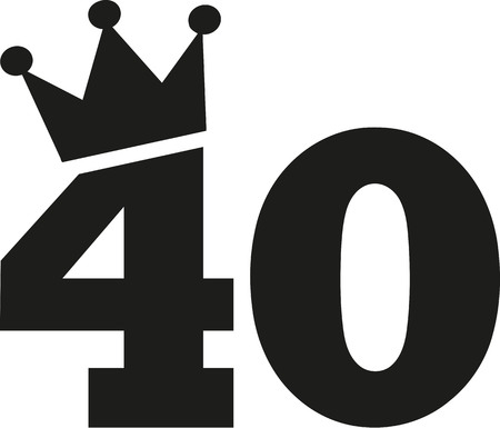 40th Birthday number crown 向量圖像