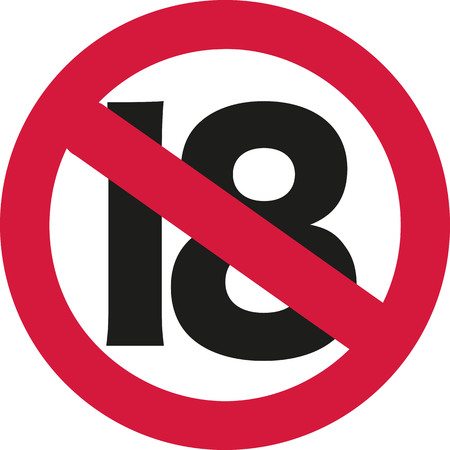 happy birthday 18: 18 ban sign - 19th birthday