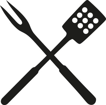 Grill Spachtel und Gabel