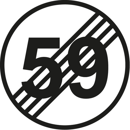 sixtieth: 60th birthday traffic sign