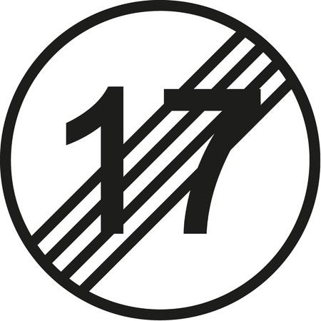 happy 18th: 18th birthday traffic sign