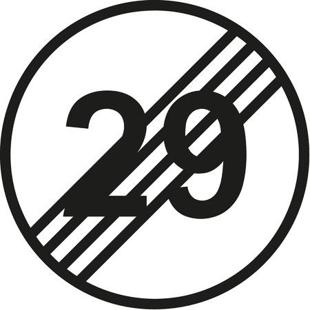 30th: 30th birthday traffic sign Illustration