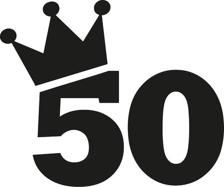 50 번째 생일 왕관 일러스트