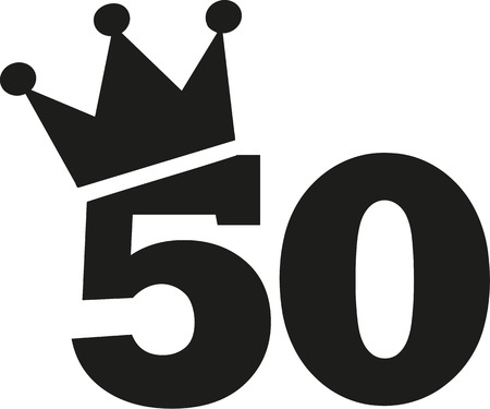 the fiftieth: 50th Birthday number crown