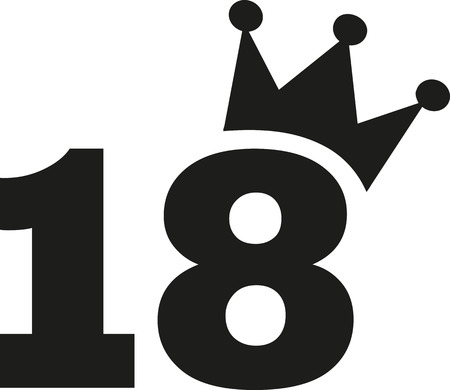happy birthday 18: 18th Birthday number crown