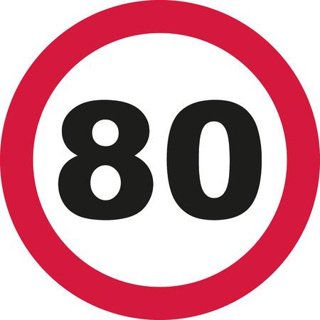 tenth: 80th Birthday - traffic sign