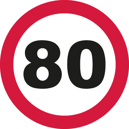 80th Birthday - traffic sign