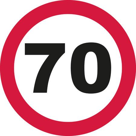seventieth: 70th Birthday - traffic sign