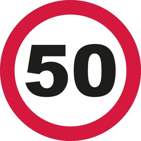 the fiftieth: 50th Birthday - traffic sign