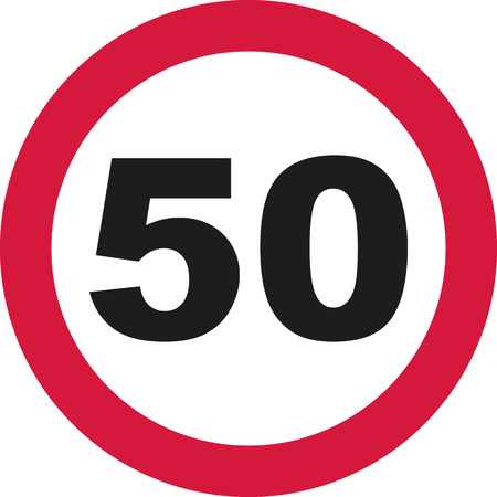50th Birthday - traffic sign