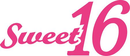 Sweet sixteen 16th birthday