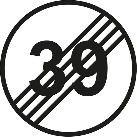 notable: 40th birthday traffic sign
