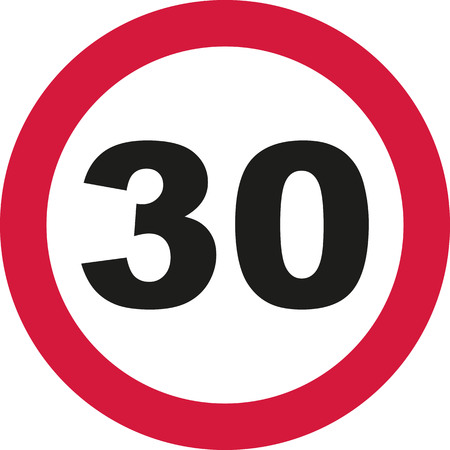 30th: 30th Birthday - traffic sign