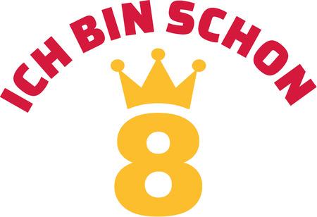 Eighths birthday - I am already 8 year old