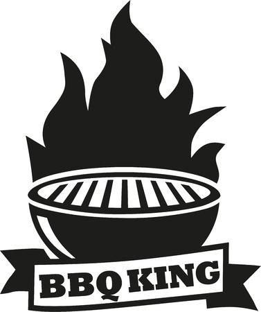 barbecue grill: Barbecue grill with BBQ king