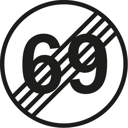 seventieth: 70th birthday traffic sign