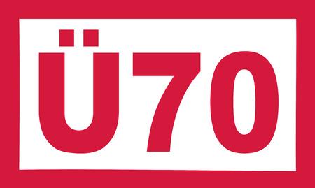 Over 70 birthday - Ü70 german
