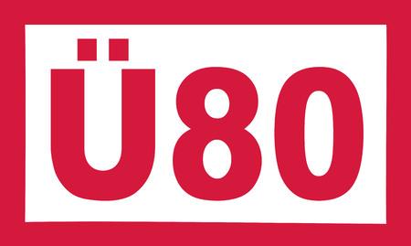 80th: Over 80 birthday - Ü80 german