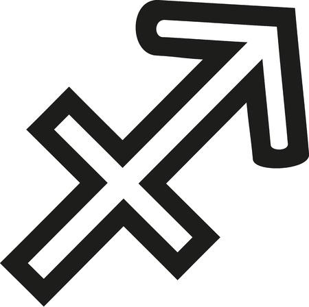 Sagittarius zodiac sign outline