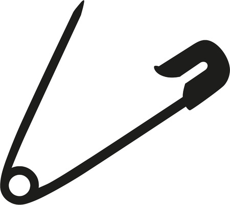 Sicherheitsnadel Nadel geöffnet Vektorgrafik