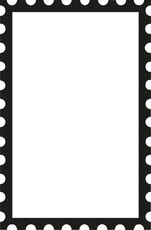Postzegel rechtop icoon Stock Illustratie