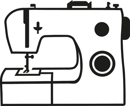 machine: Sewing machine Illustration