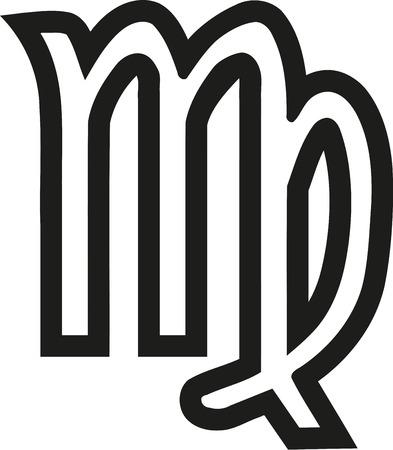 Virgo zodiac sign outline Illustration