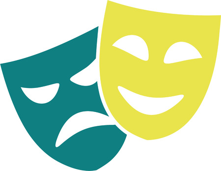 theater masks: Icon of theater masks
