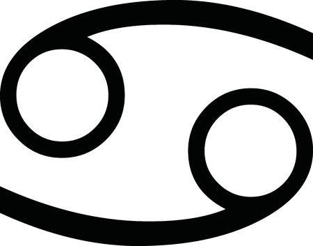 Zodiac sign cancer Illustration