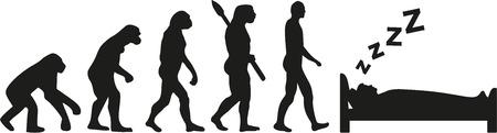 sleeping man: Evolution of sleeping man Illustration