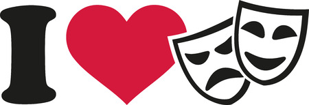 comedy show: I love Theater masks