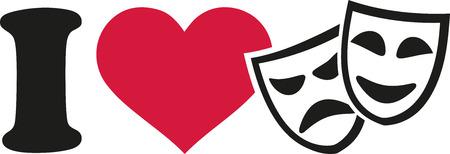 theater masks: I love Theater masks