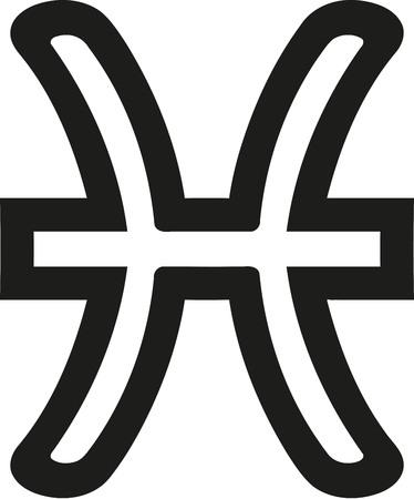 waterbearer: Pisces zodiac sign outline