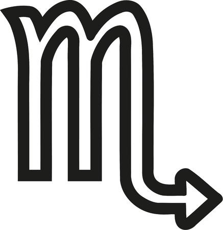 Scorpion zodiac sign outline Illustration