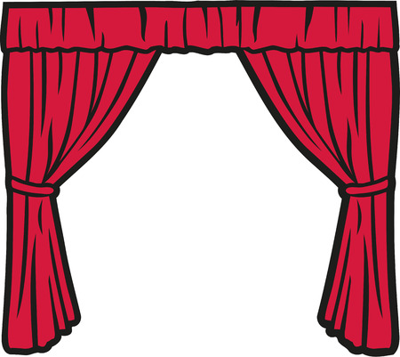 theater curtain: Theater curtain Illustration