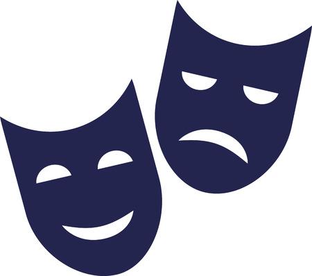 극장 마스크 - 좋은 점과 나쁜 점 일러스트