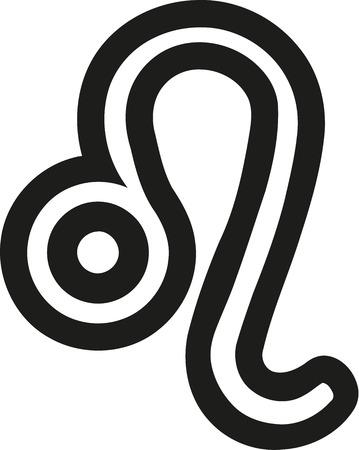 Zodiac sign leo outline