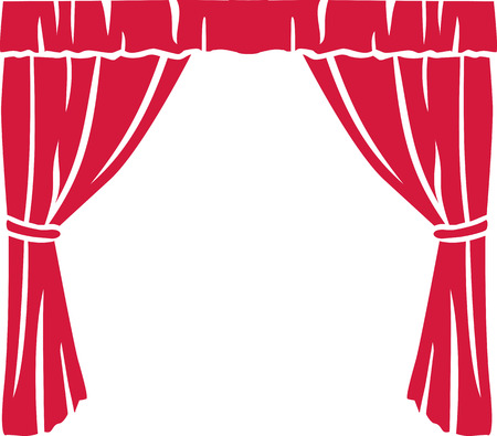 comedy show: Red theater curtain