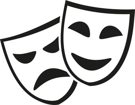 theater masks: Theater masks icon