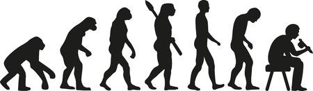 sapiens: Tattooist evolution Illustration