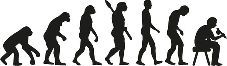 homo sapiens: Tattooist evolution Illustration