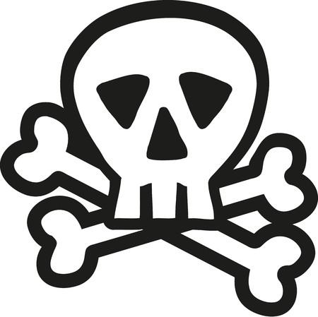 crossbones: Skull with crossbones outline